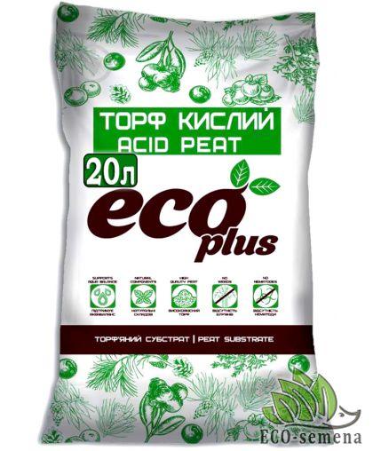 Торф Кислый, Eco Plus, 20л
