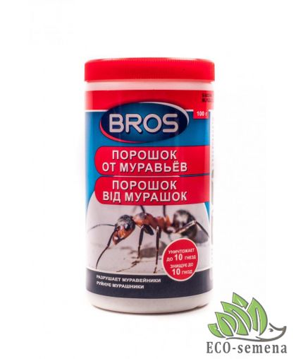 Брос (Bros), порошок от муравьев, Польша, 100 г