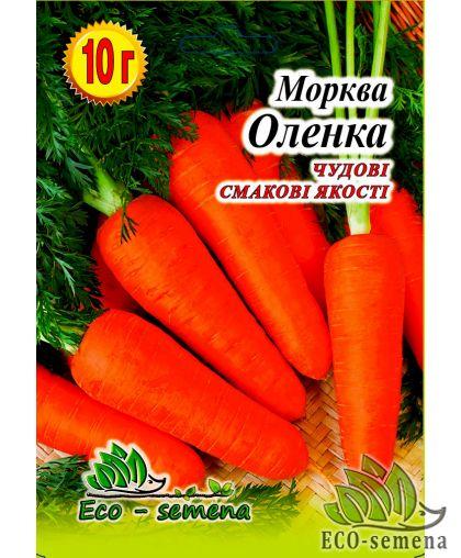 Eco semena. Семена Морковь Оленка ранняя, 10 г