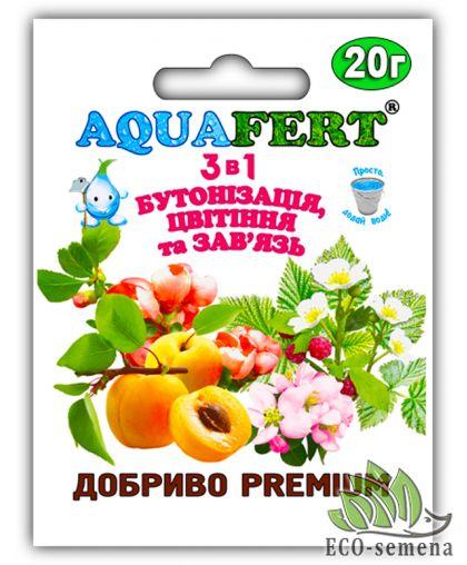 Aquafert. Удобрение 3 в 1, Бутонизация, Цветение и Завязь, 20 г