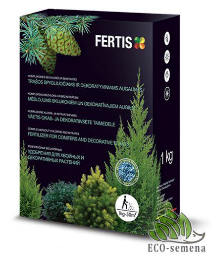 Удобрение Фертис для Хвои без Хлора, Комплексное, Fertis, 1 кг