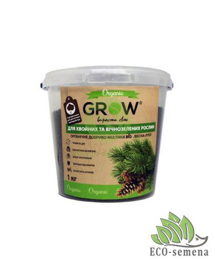 Удобрение органическое для Хвойных и и вечнозеленых растений, ТМ Grow (Multimix bio), 1кг