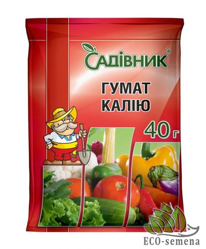 Удобрение Гумат Калия, 40 г